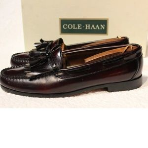 Cole Haan Tossels Red Wood Loafers 10.5 M
